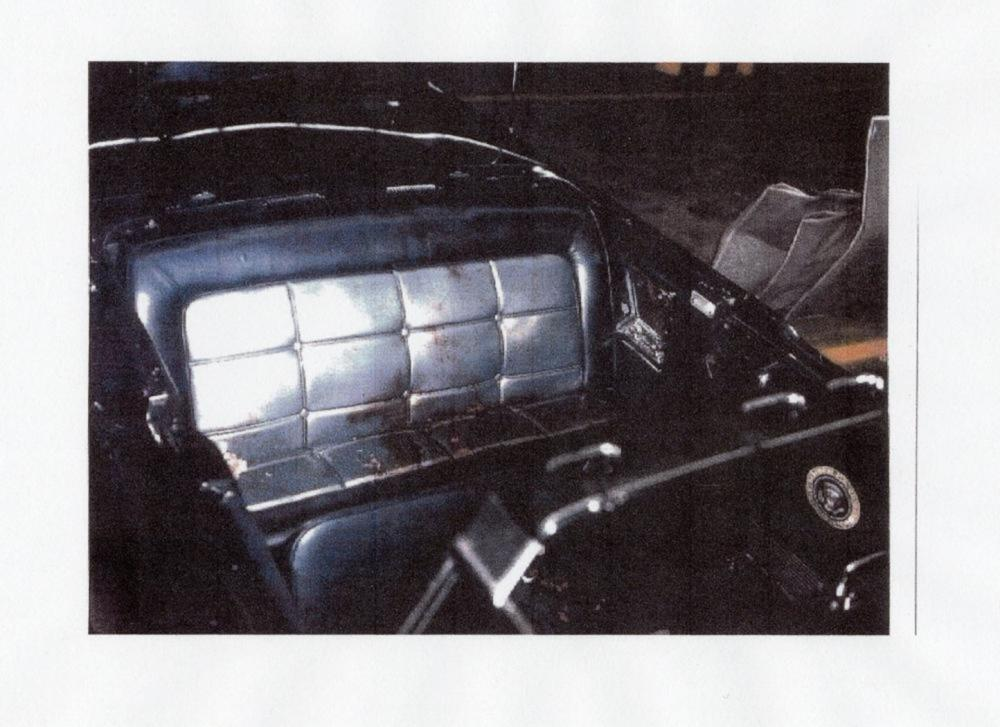 John F. Kennedy Original Blood-stained Leather Fragment from Dallas Limousine