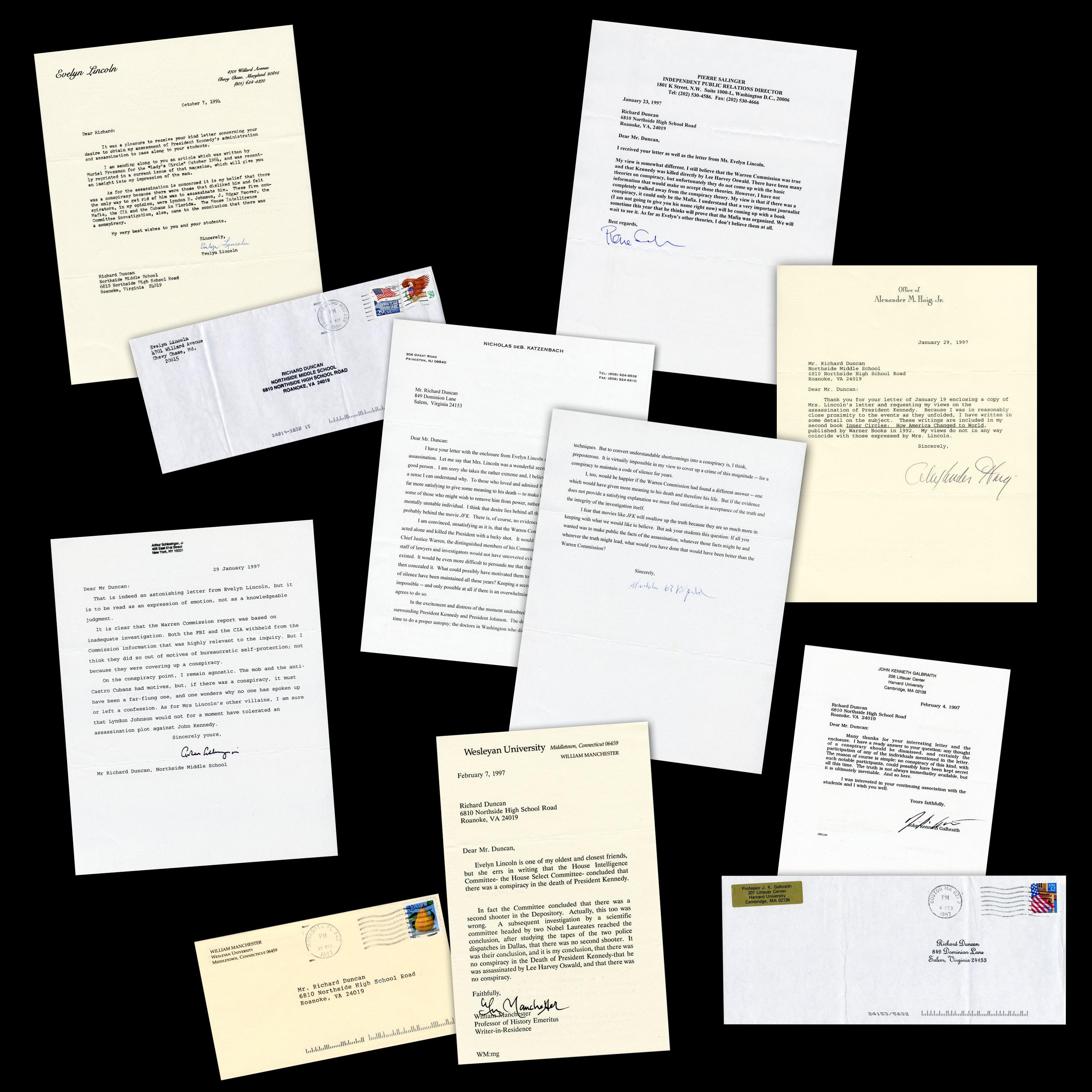JFK Secretary Evelyn Lincoln Accuses LBJ, CIA, FBI & Mafia of Conspiring in Assassination, 6 Other Important letters Too!