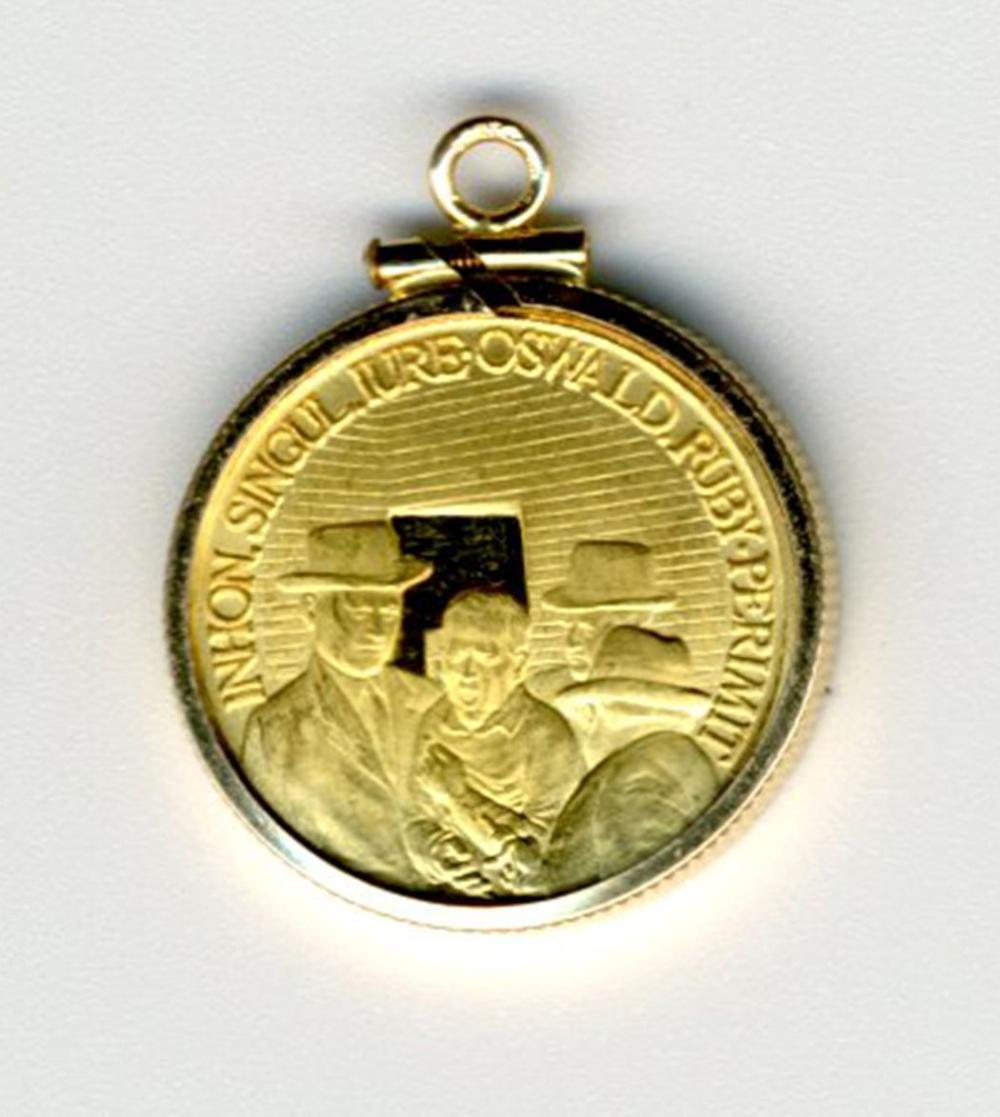JFK / Oswald 900 Gold German Commemorative Coin