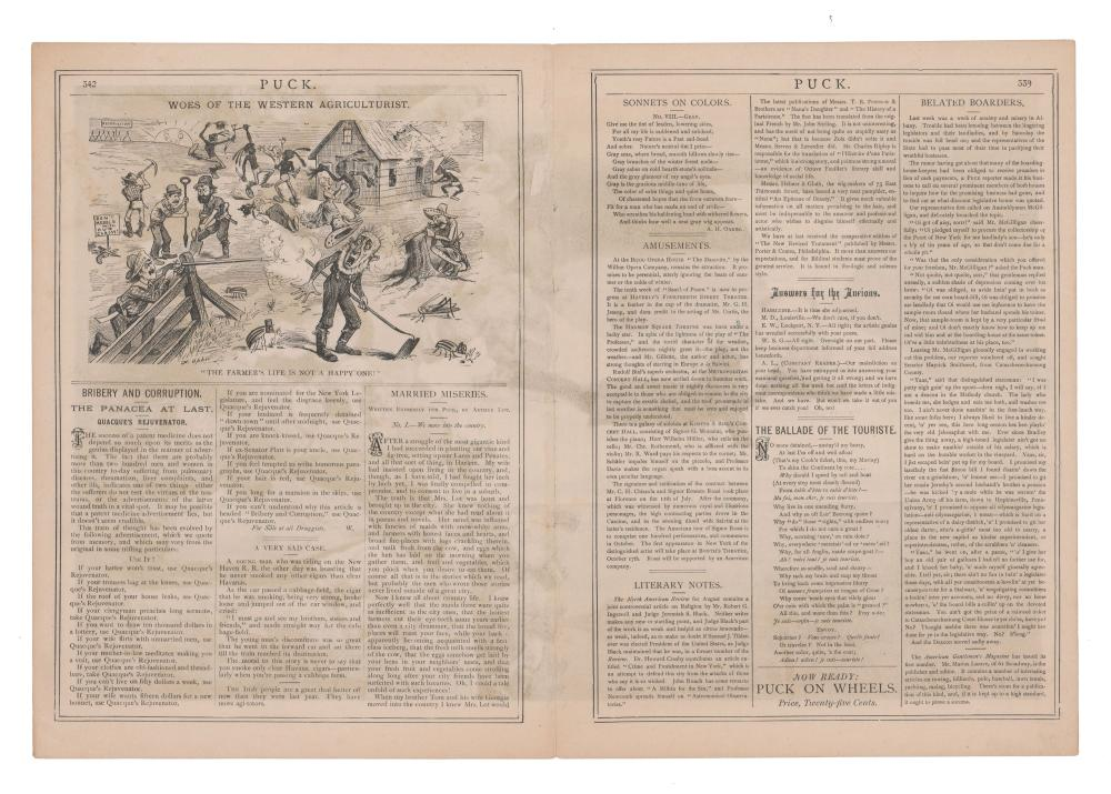 Group of New York Business Broadsides and Publications, Ca. 1881-1905