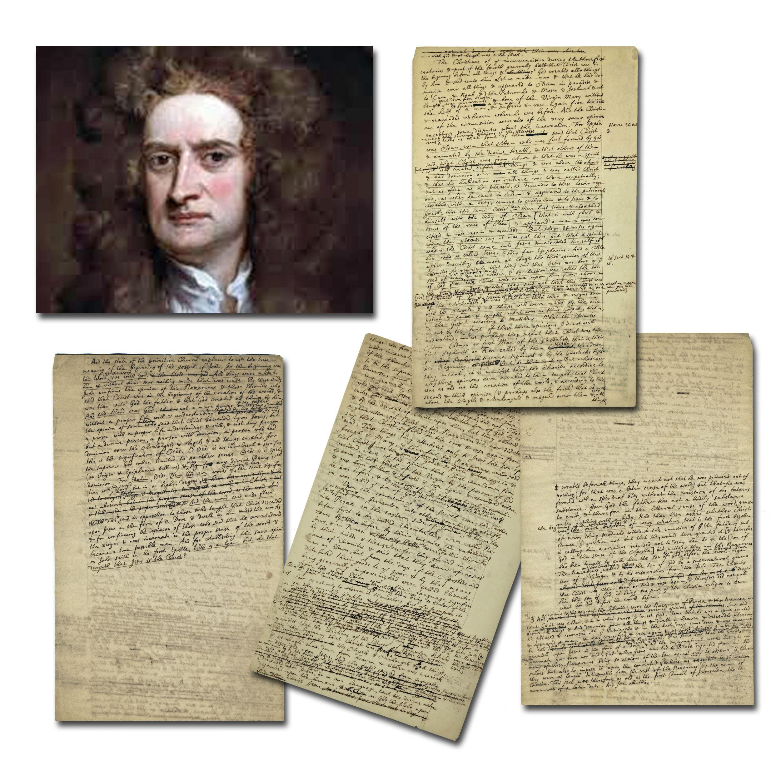 Sir Isaac Newton Highly Important Manuscript on God & Creation, 4p. or Almost 2,300 Words in his Hand!