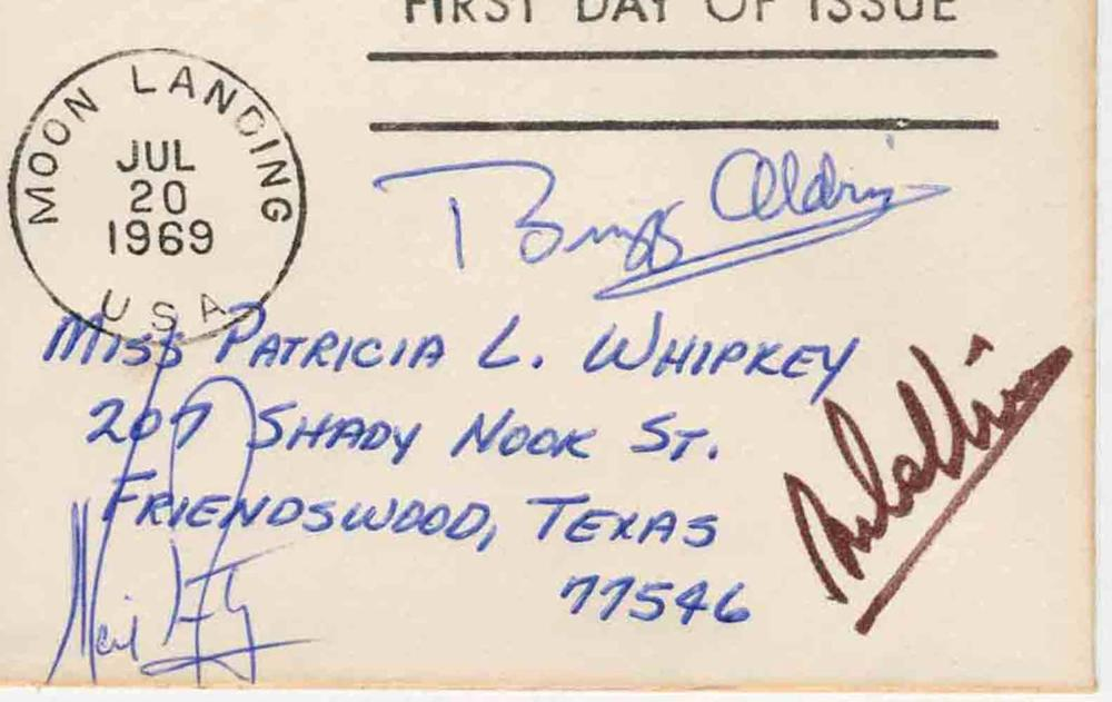 Apollo XI Signed by Armstrong, Aldrin & Collins, Similar to Insurance Covers, From William Whipkey Collection