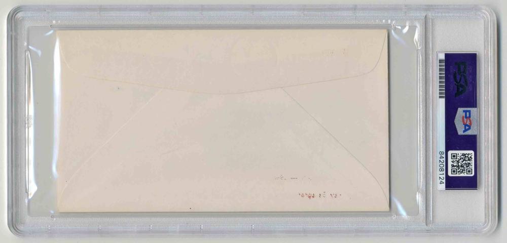 """Nagasaki Atomic Bomb Postal Cover Signed by 3 """"Bockscar"""" Crew Members, PSA/DNA Slabbed & Graded Mint 9"""