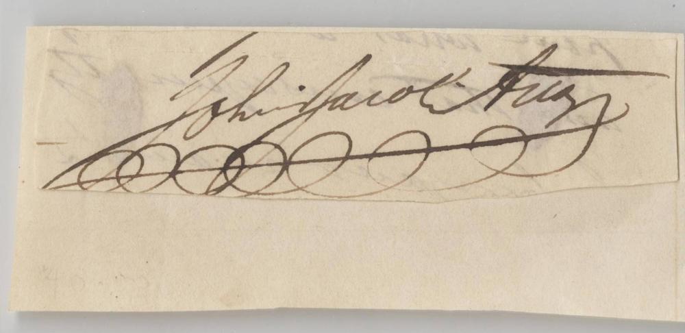 John Jacob Astor Signature, PSA Slabbed and Graded NM-MT 8