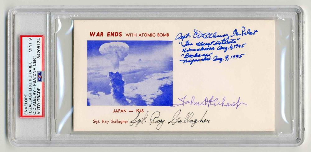 Nagasaki Atomic Bomb Postal Cover Signed by 3