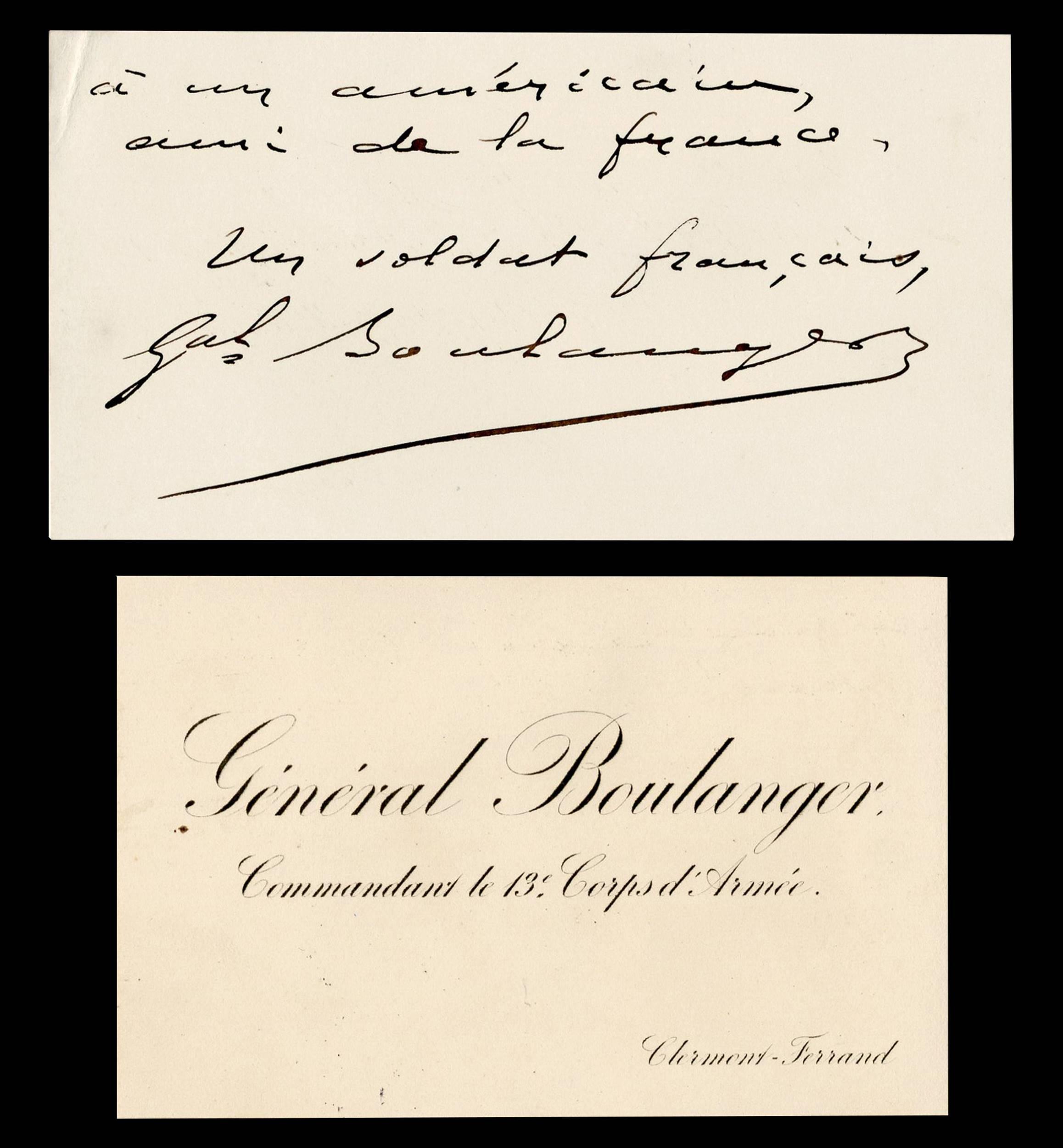 "General Boulanger aka ""General Revenge"" Cards"