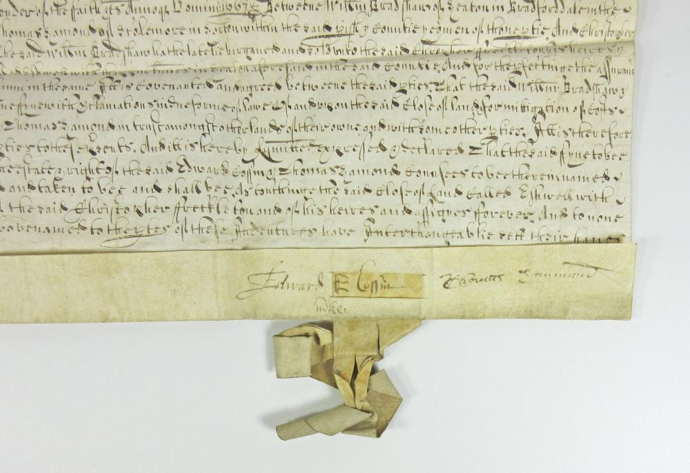 Early Signed Manuscript from Yorkshire, England Dating a Few Years after the Stuart Restoration