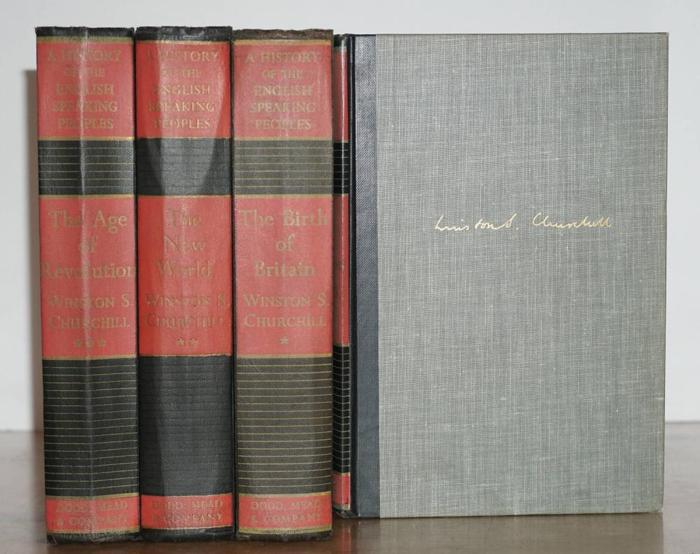 Enormous Lot of Winston Churchill First Printings, Comprising of 34 Books in Total