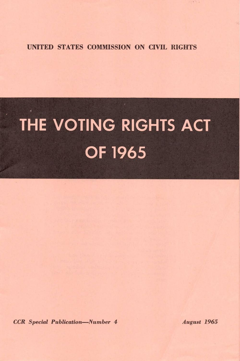 1965 Voting Rights Archive -- Rare