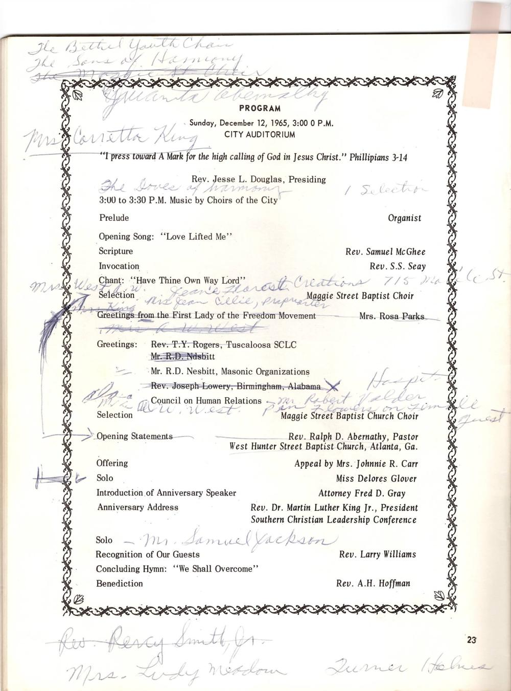"Montgomery Improvement Association 1965 ""Rededication"" Archive"