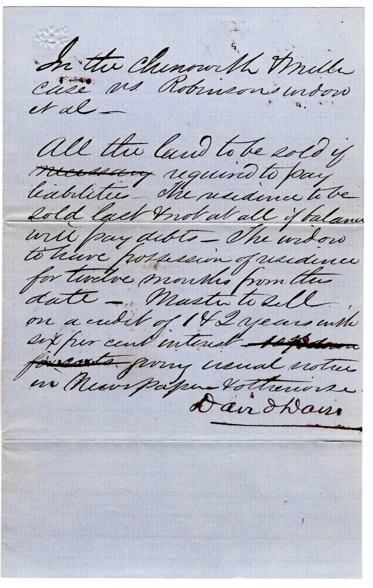 A. Lincoln Case Worked on by David Davis Future Supreme Court Justice