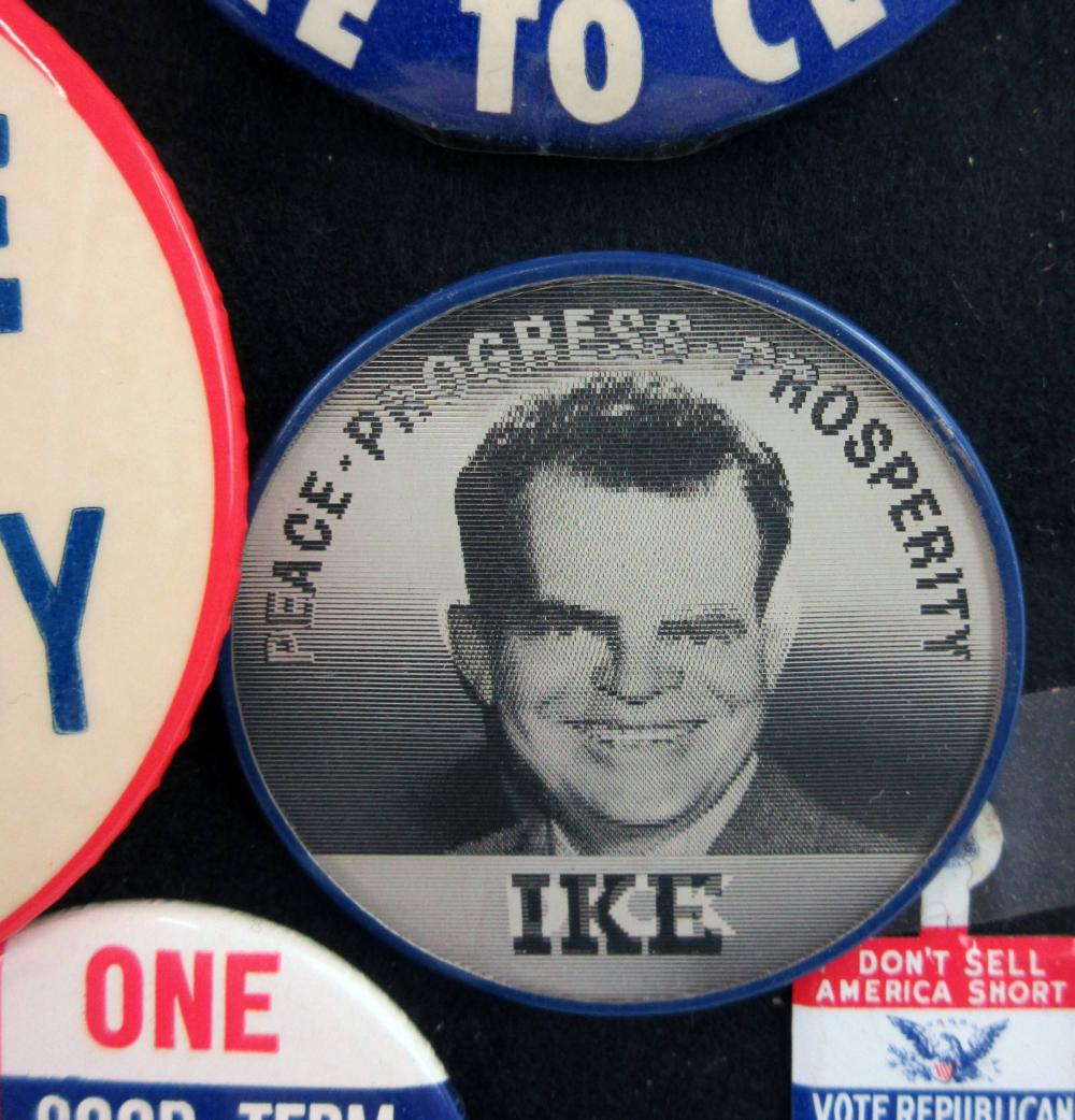 Dwight Eisenhower & Richard Nixon Campaign Pinbacks & Memorabilia, 100+ Pcs