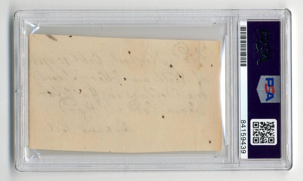 William Ellery, Declaration Signer, Signed Colonial Document, PSA Slabbed & Graded NM-MT 8!