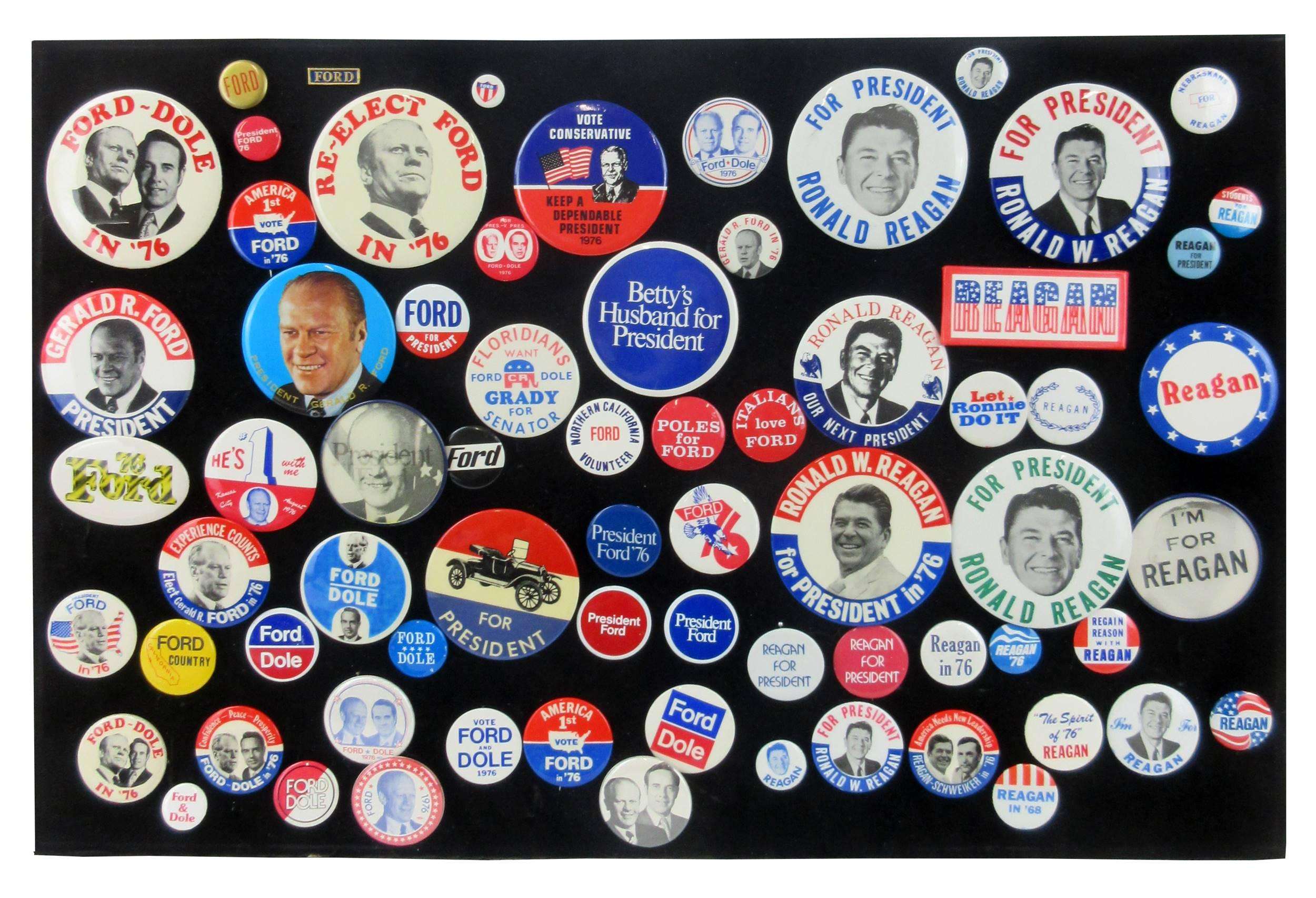 Gerald Ford, Ronald Reagan 1976 Presidential Campaign Pinbacks & Memorabilia, 65+ Pcs