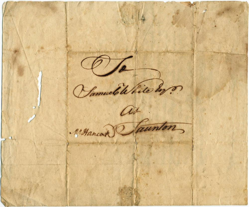 John Hancock Writes Letter for Uncle to Client for Business He Later Inherited