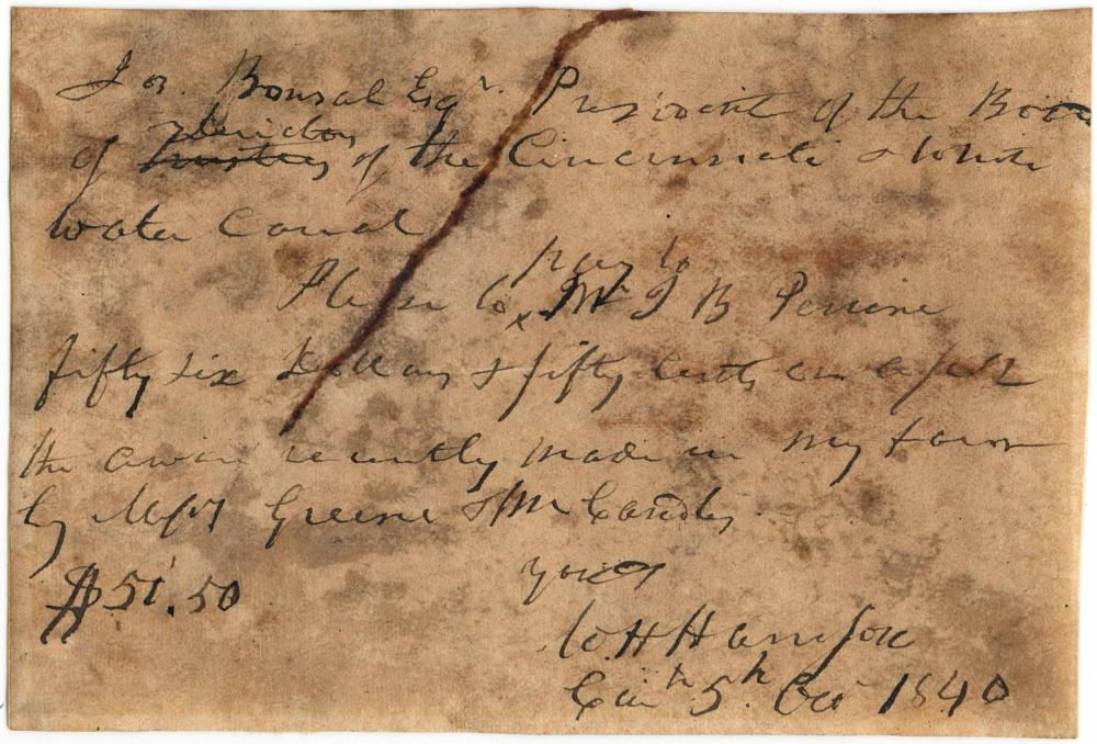 One Month before His Election, Future President William Henry Harrison Transfers Money