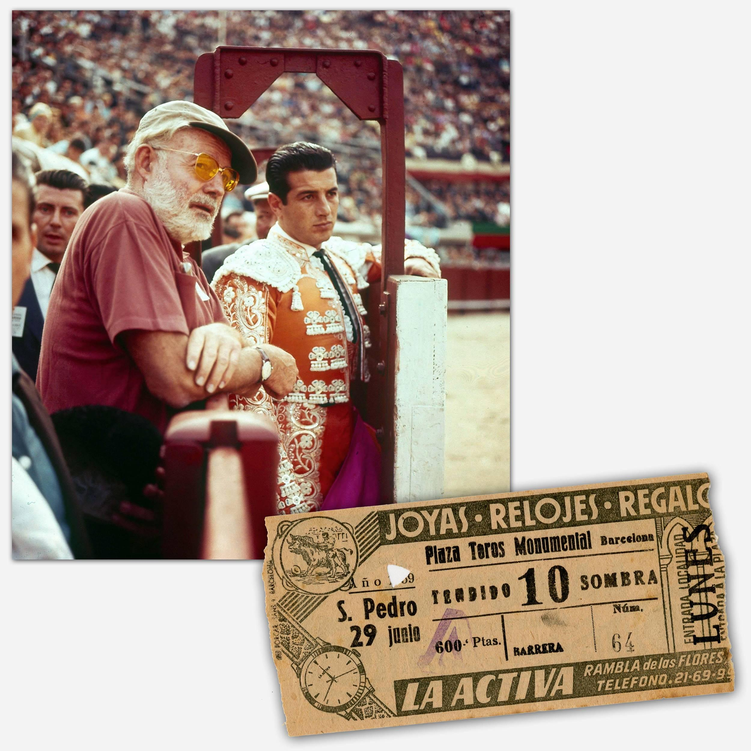 """Ernest Hemingway Owned and Used Ticket for a Bullfight at Barcelona's Plaza Toros Monumental in """"The Dangerous Summer"""" of 1959"""