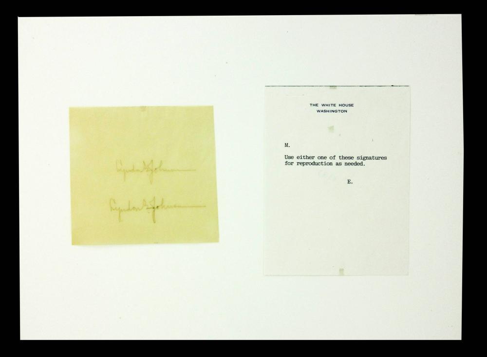 Lyndon B. Johnson 2 Authentic Signatures, Models for Autopen!