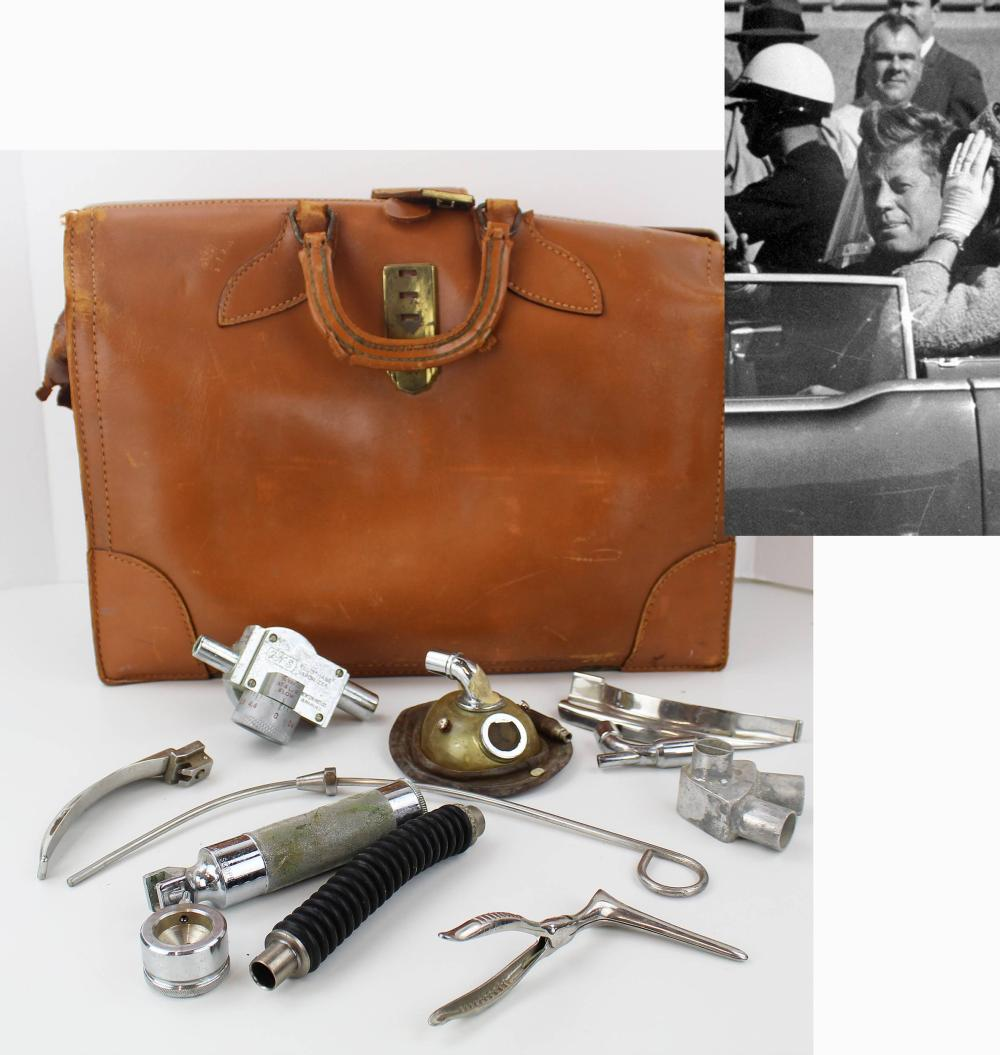 J. F Kennedy Resuscitation Anesthetic Instruments from Assassination Day From Parkland Dr. Jenkins