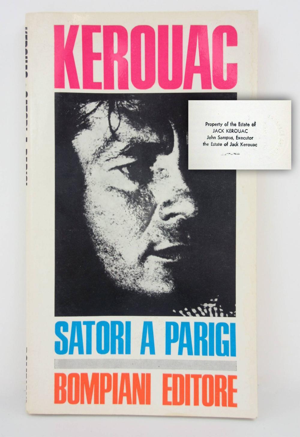 "Jack Kerouac's Personally Owned Italian Translation of ""Satori in Paris"", from his Estate"