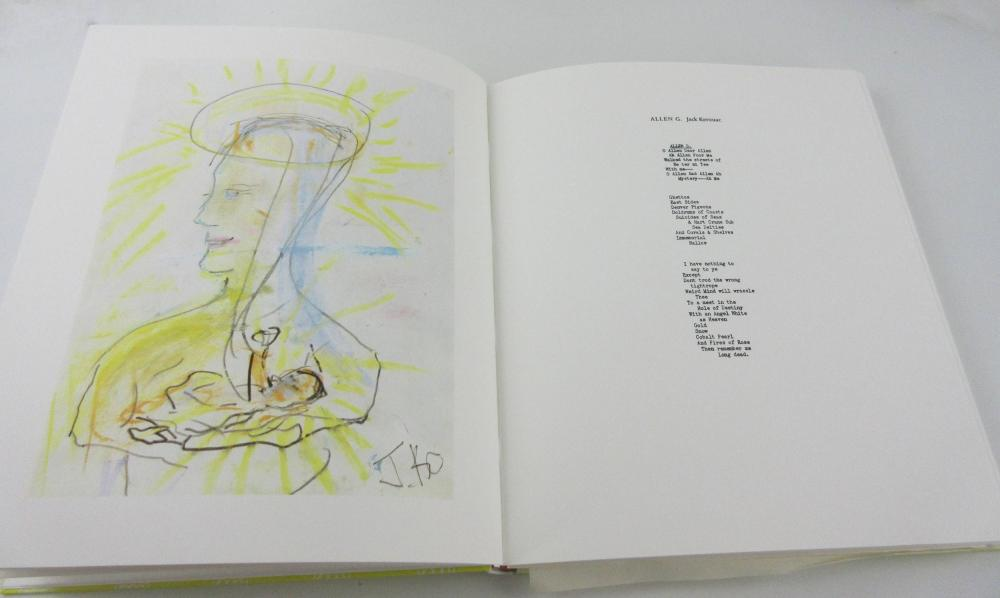 Kerouac Estate Owned Limited Ed Book of Art and Poetry Dedicated to Allen Ginsberg