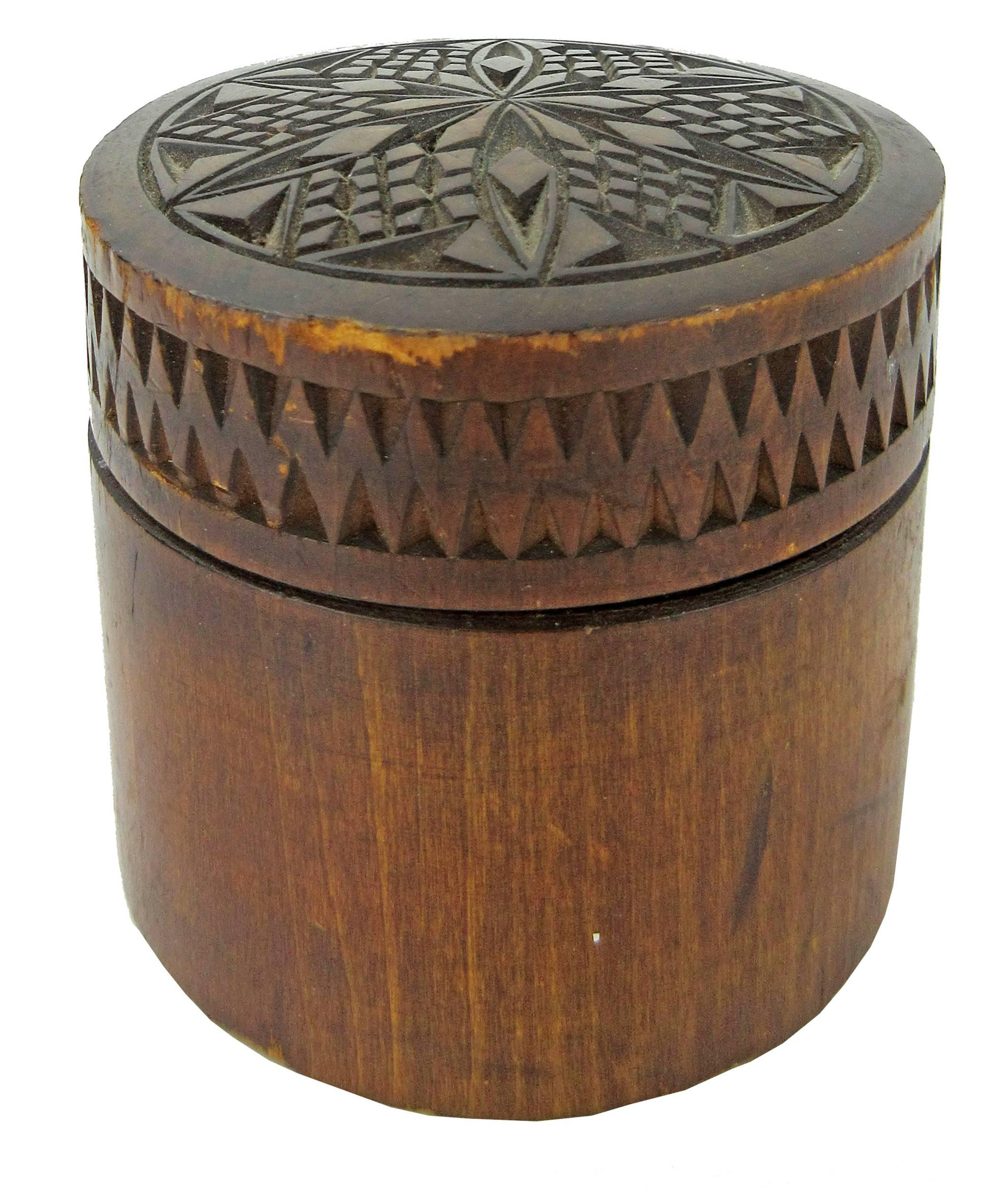 Jack Kerouac's Personally Owned Russian Carved Mahogany Covered Jar, from His Estate
