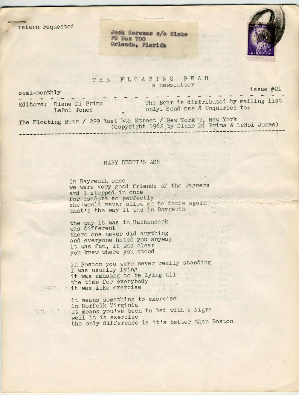 Jack Kerouac's Personally Owned 4 Issues of Rare Poetry Monthly
