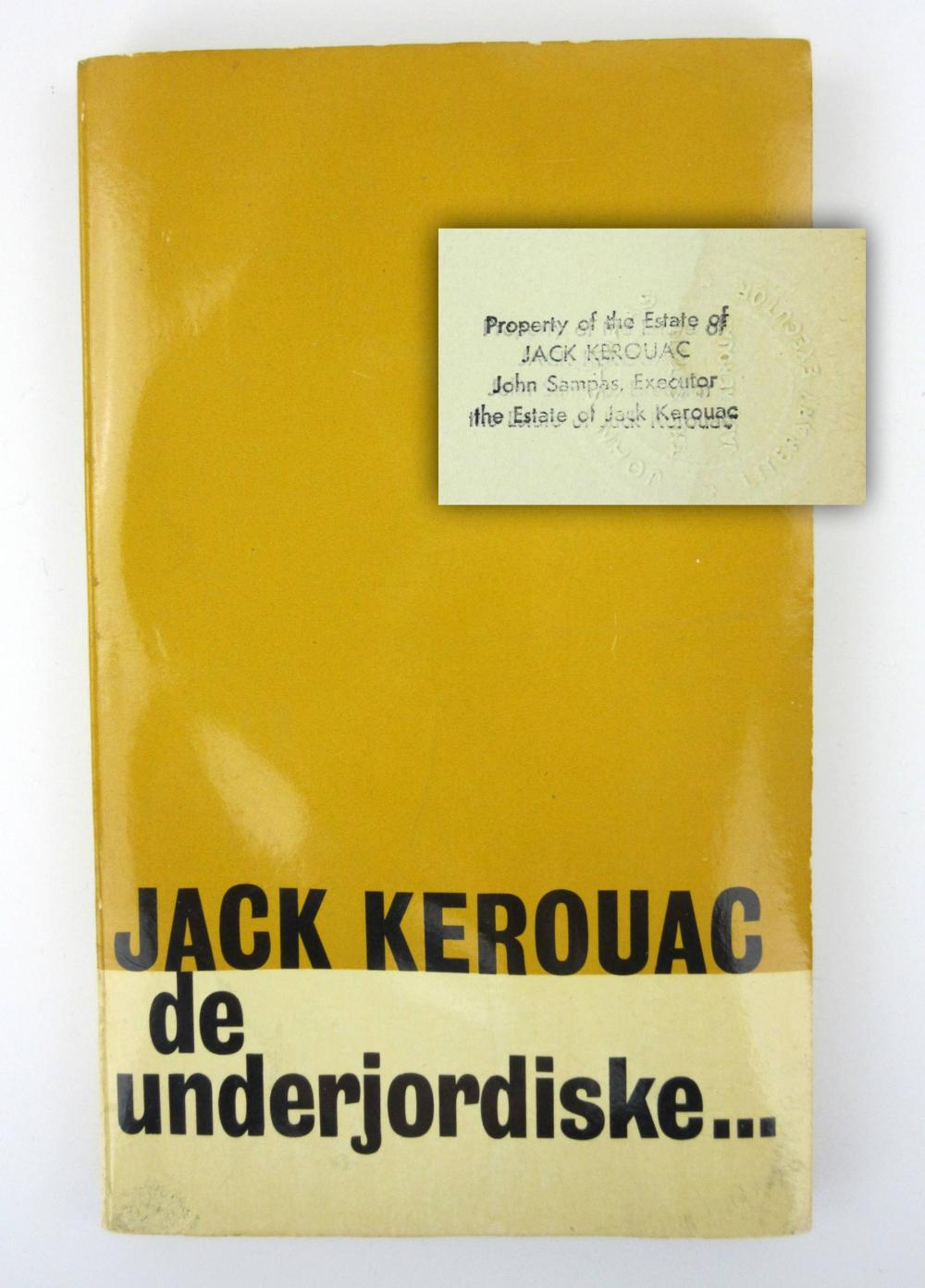 "Jack Kerouac's Personally Owned Danish Translation of ""The Subterraneans"", Estate Certified"