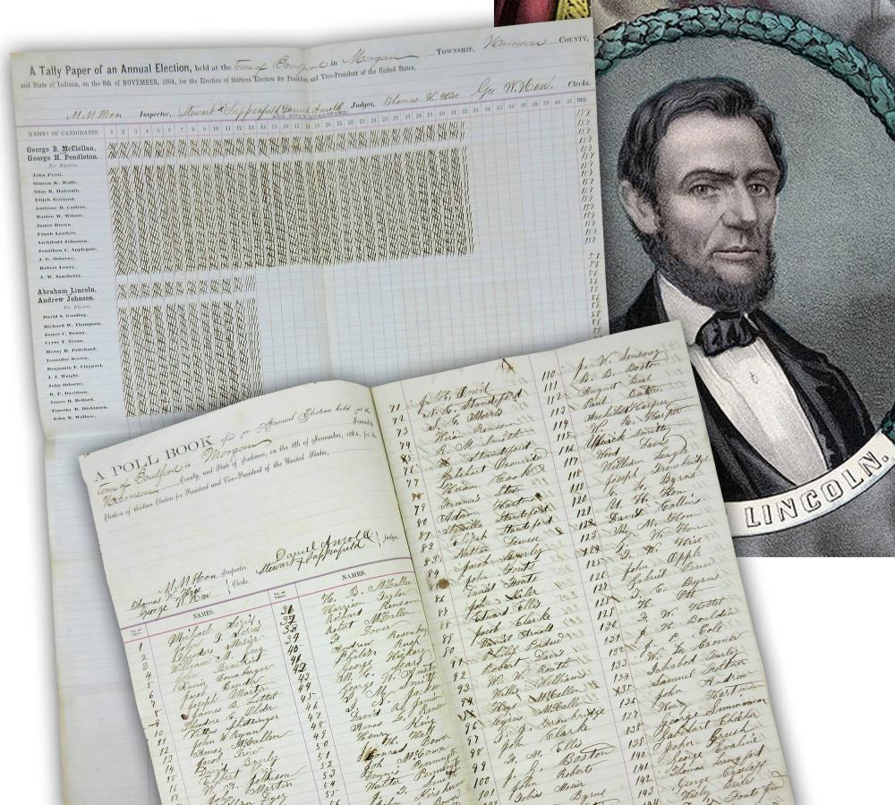 Abraham Lincoln, Loser of Southern Indiana Township's 1864 Presidential Election Results