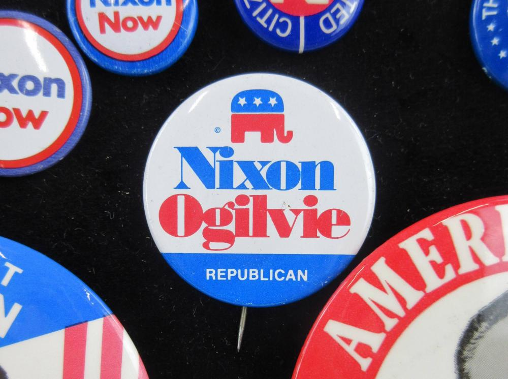 Richard Nixon Re-Election Campaign Pinbacks & Memorabilia, 75+ Pcs
