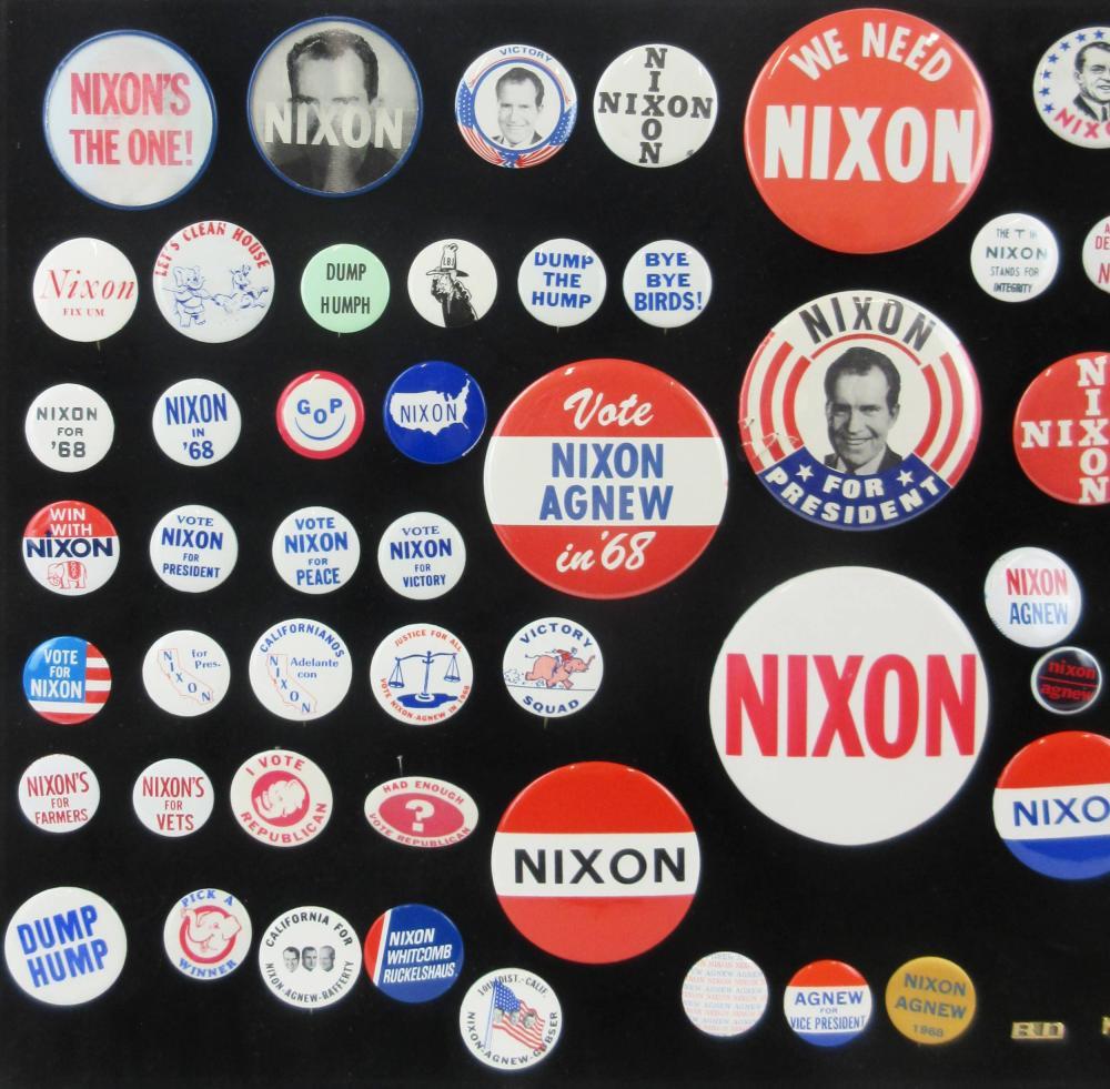 Richard Nixon & Anti-Democratic Party Campaign Pinbacks & Memorabilia, 85+ Pcs