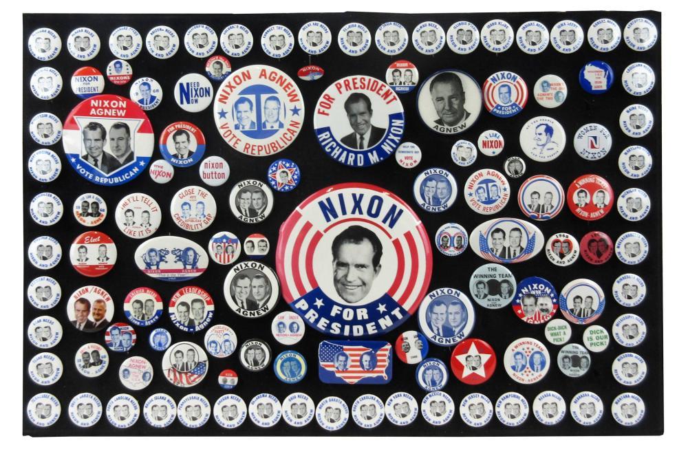 Richard Nixon Campaign Pinbacks & Memorabilia, 110+ Pcs