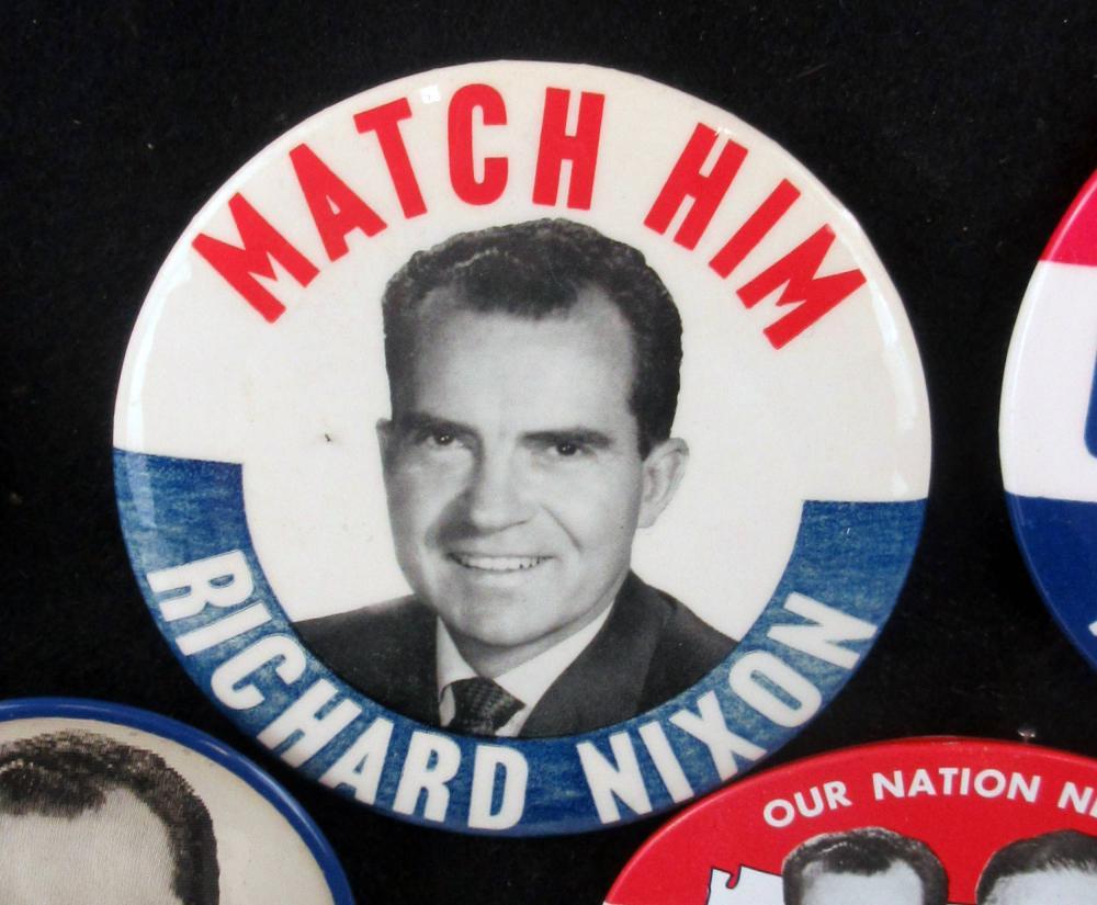 Early Richard Nixon Campaign Pinbacks & Memorabilia, 90+ Pcs