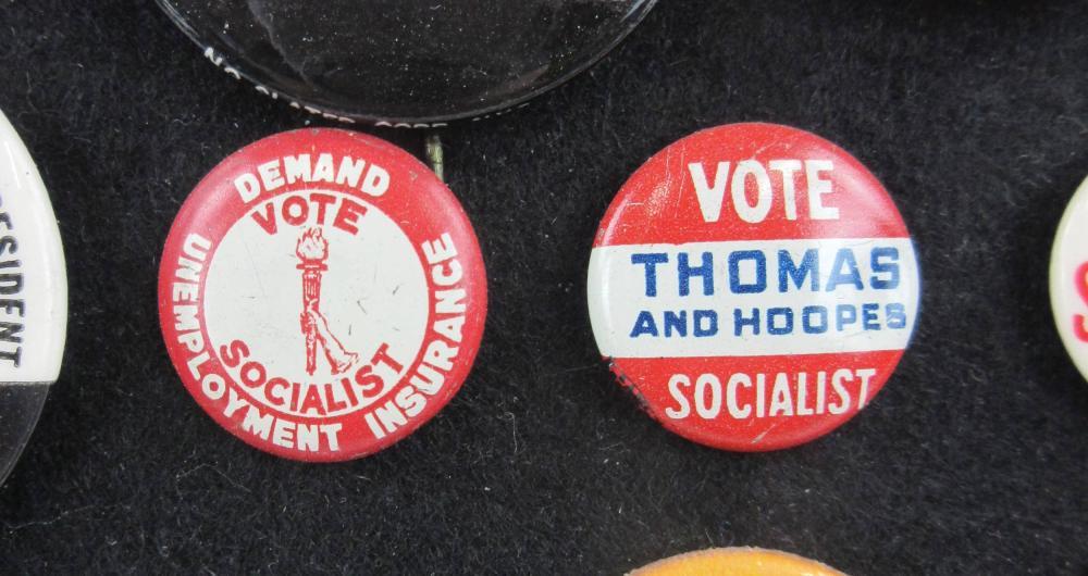 Alternative & Fringe Party Campaign Pinbacks & Memorabilia, 110+ Pcs, Ca. 1940-1996