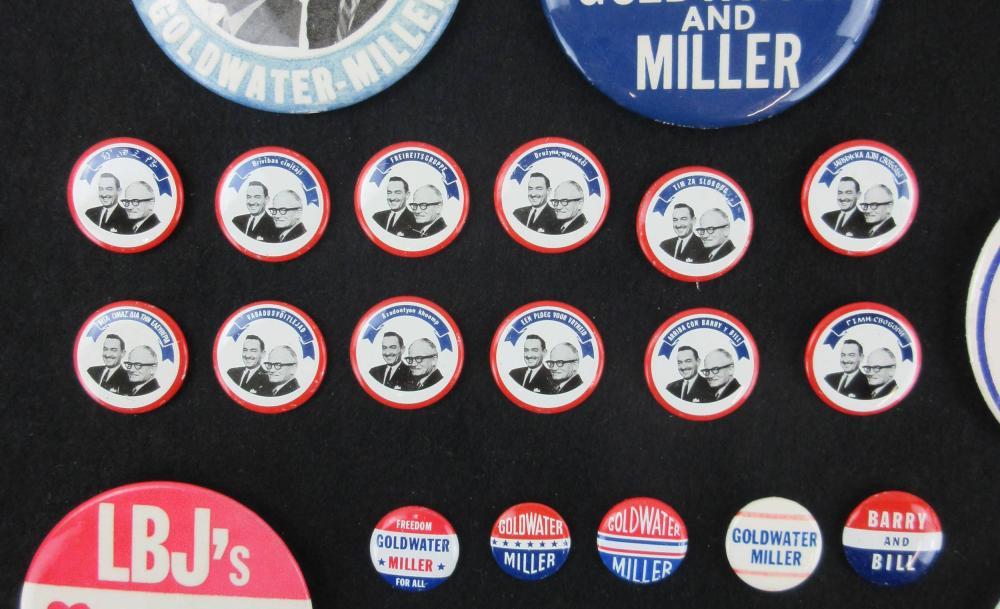 Barry Goldwater & Anti-LBJ Campaign Pinbacks & Memorabilia, 65+ Pcs