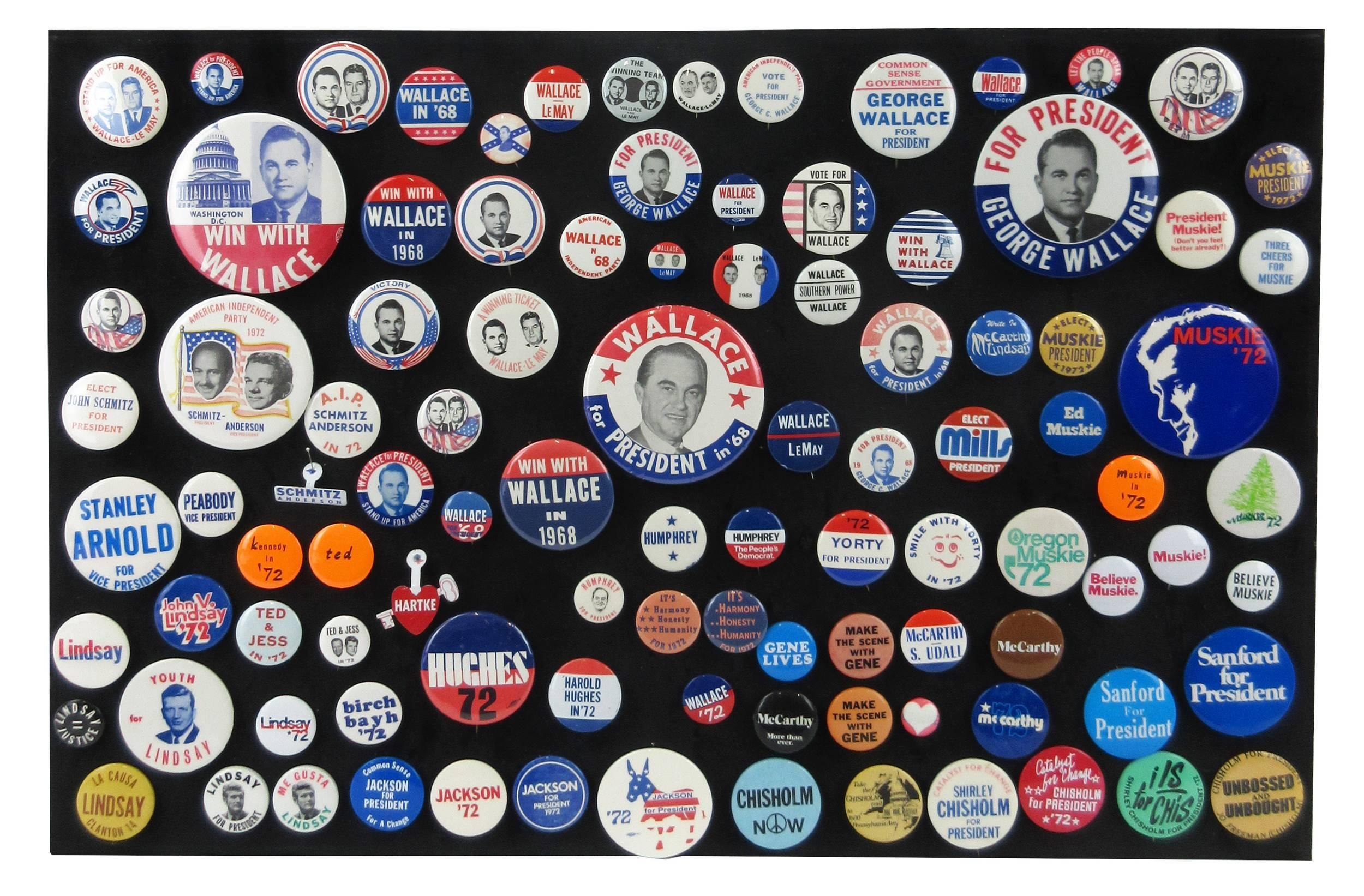 Democratic, Independent & American Independent Party Campaign Pinbacks & Memorabilia, 85+ Pcs