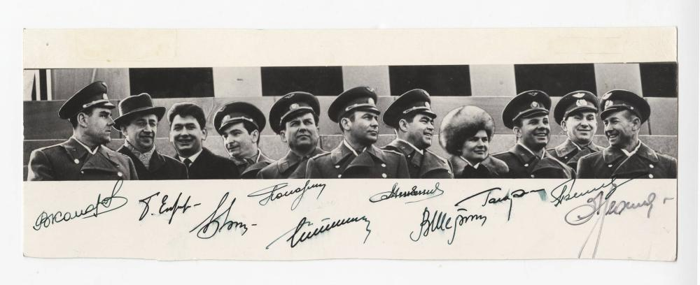 First Soviet Cosmonauts, Photo Signed by 10 Russian Space Pioneers!