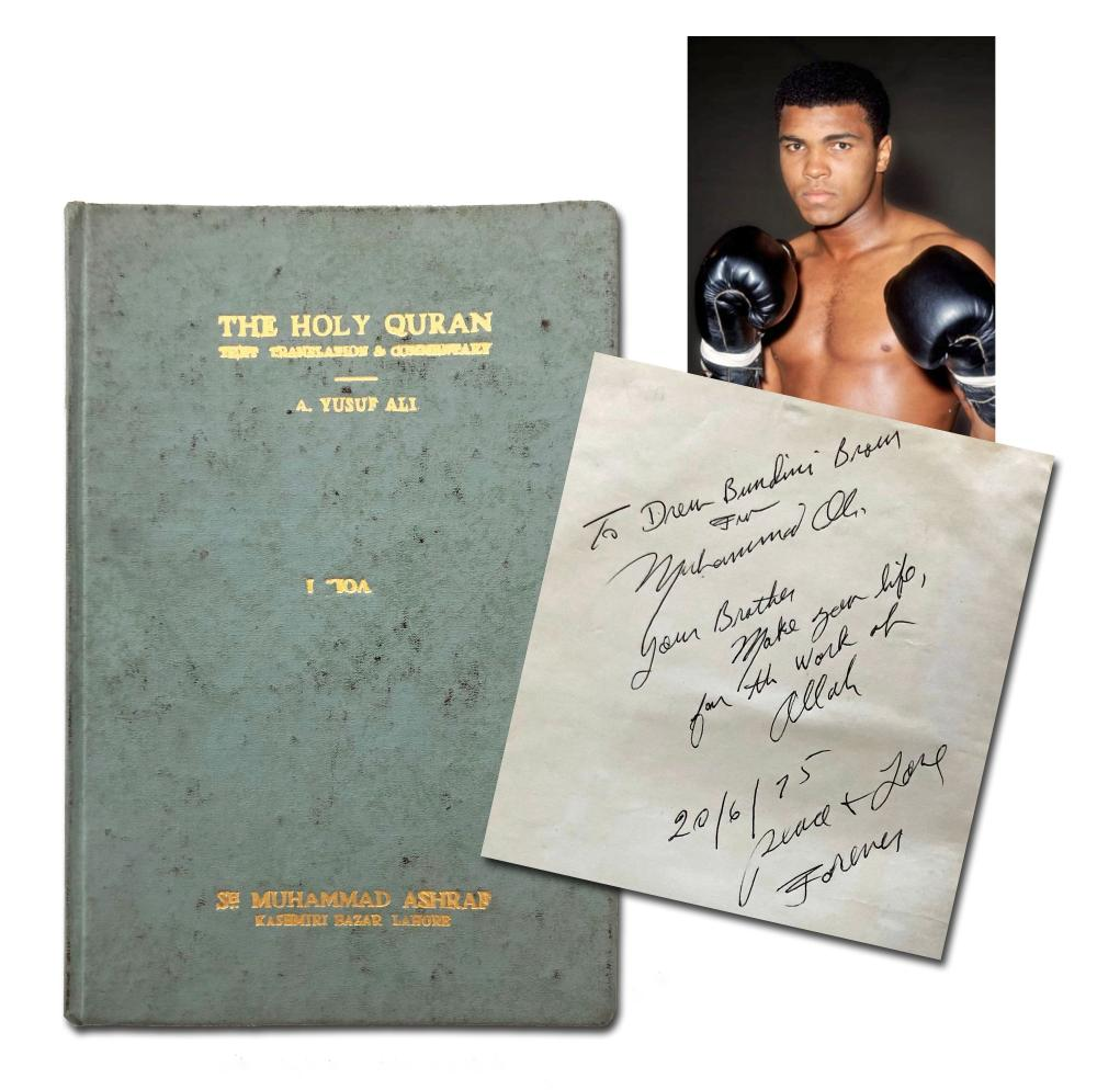 Muhammad Ali Signed and Inscribed Copy of The Quran, 1975