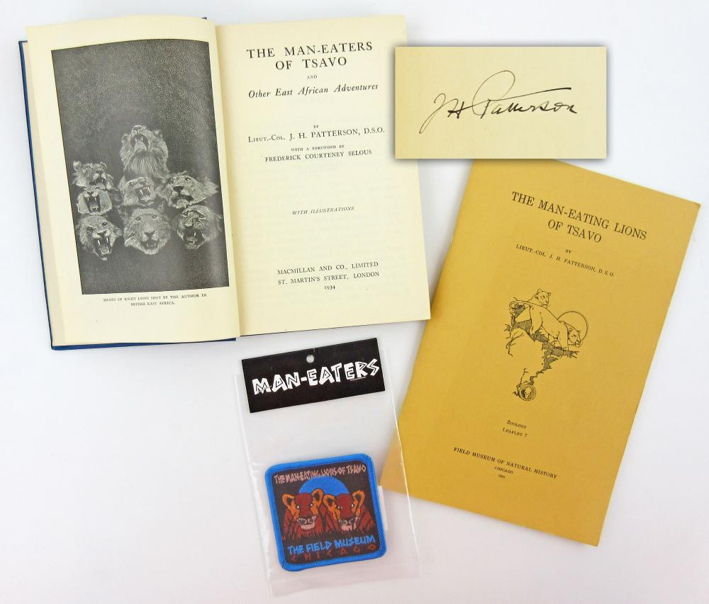 The Man-eaters of Tsavo, Signed by Lieut-Col Patterson, Author