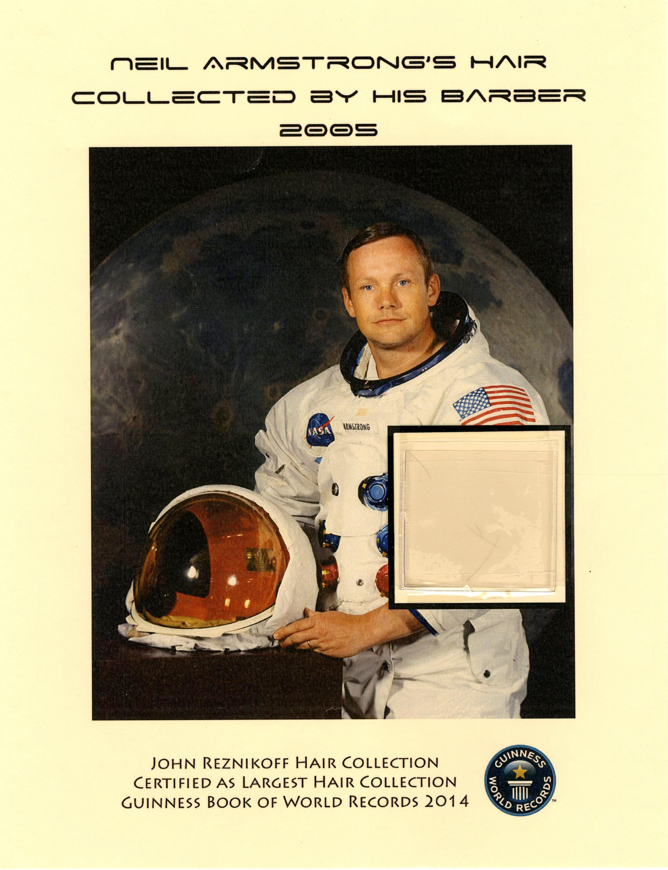 Neil Armstrong, Hair Strands from the First Man on the Moon