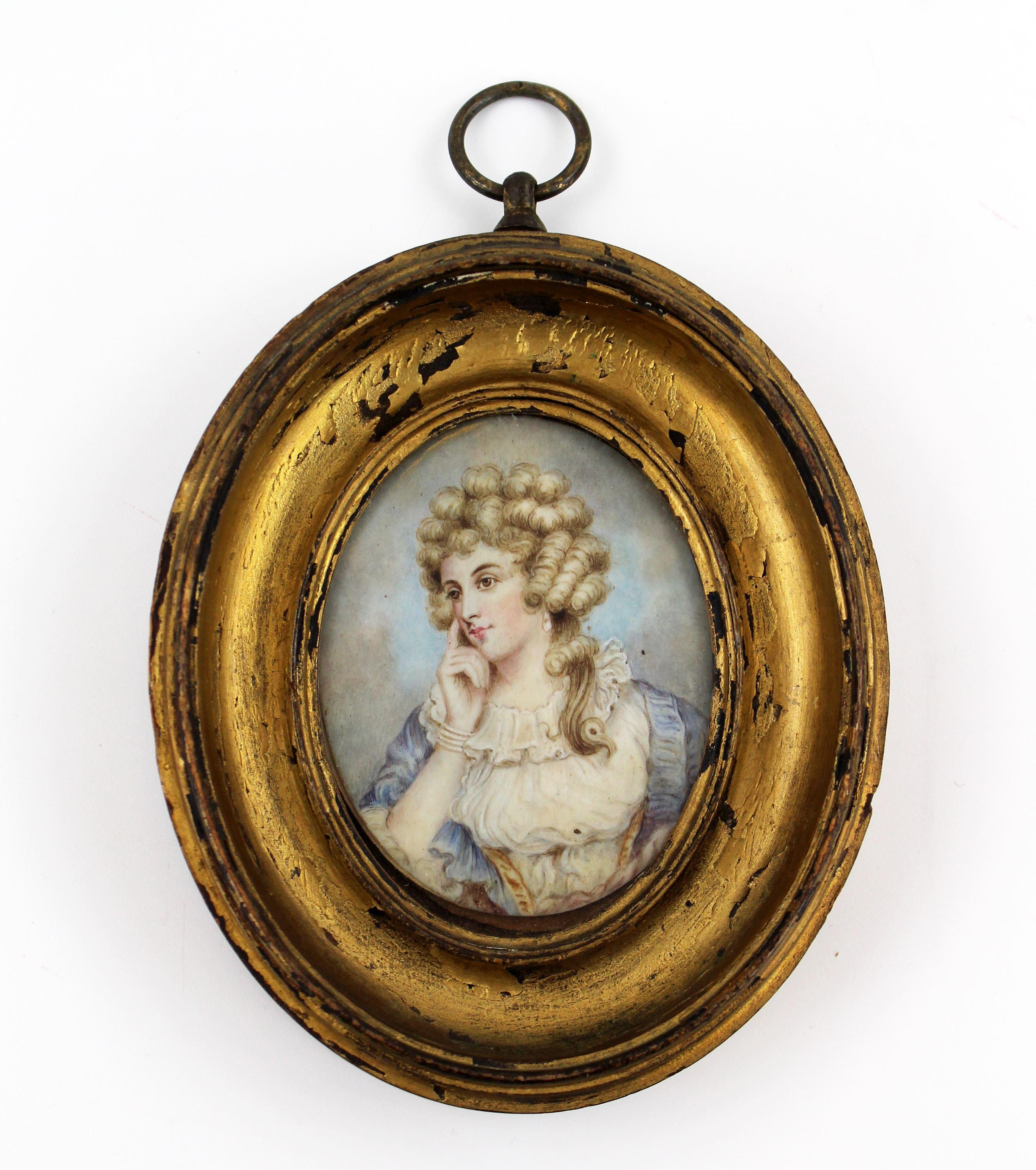 Anna Crouch, Actress & Mistress of the Prince Regent, Miniature Painting