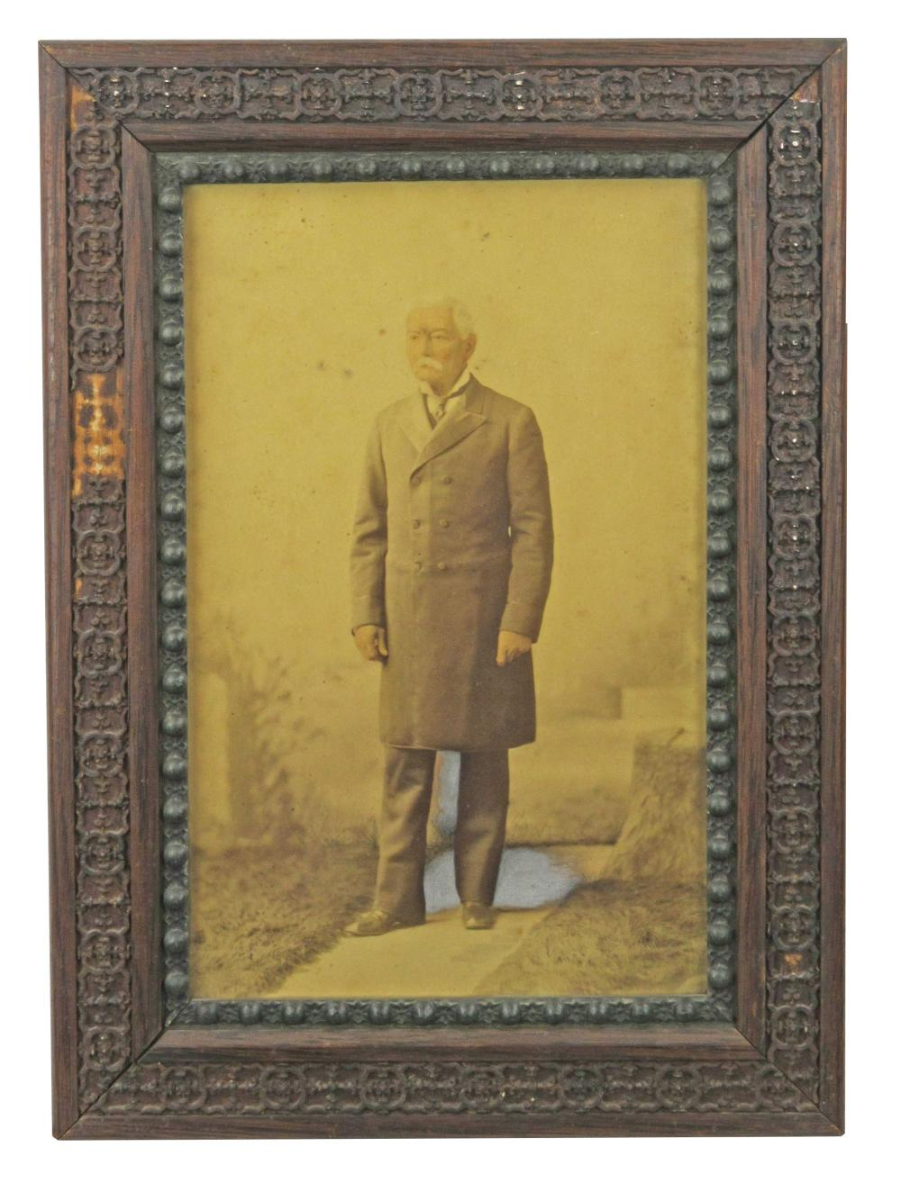 Large P.G.T. Beauregard Photograph with Hand-Painted Details
