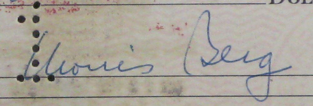 Baseball player & OSS agent, Moe Berg, Signed Check & Japanese Receipt