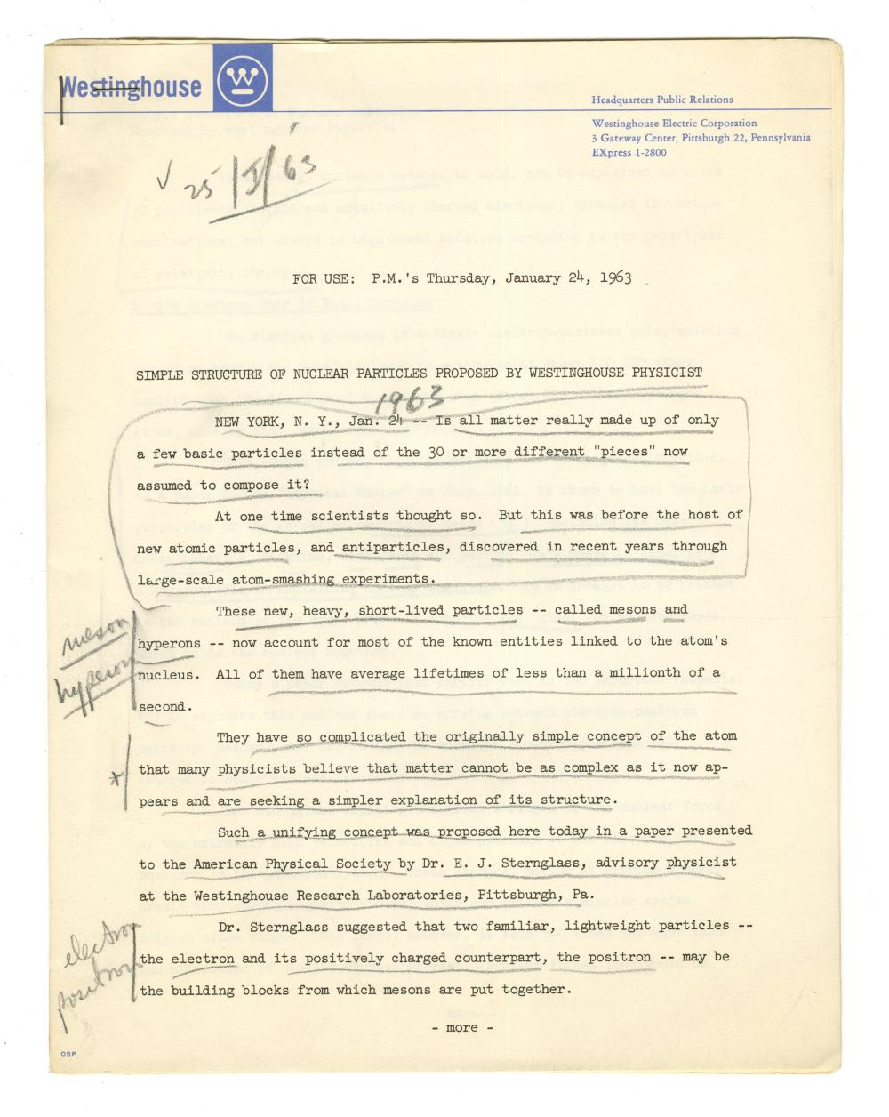 Moe Berg Notes on Nuclear Particles, Having Worked On Project Larson. The Catcher was a Spy