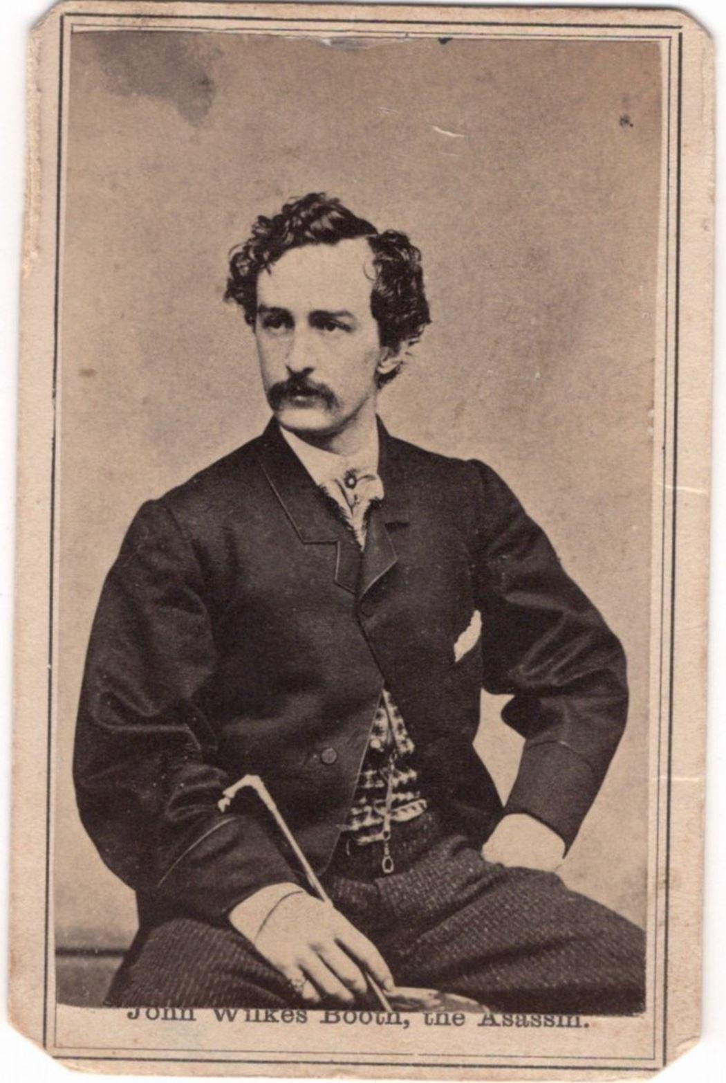 John Wilkes Booth and his Brother Edwin Booth 4 CDVs and Cabinet Cards