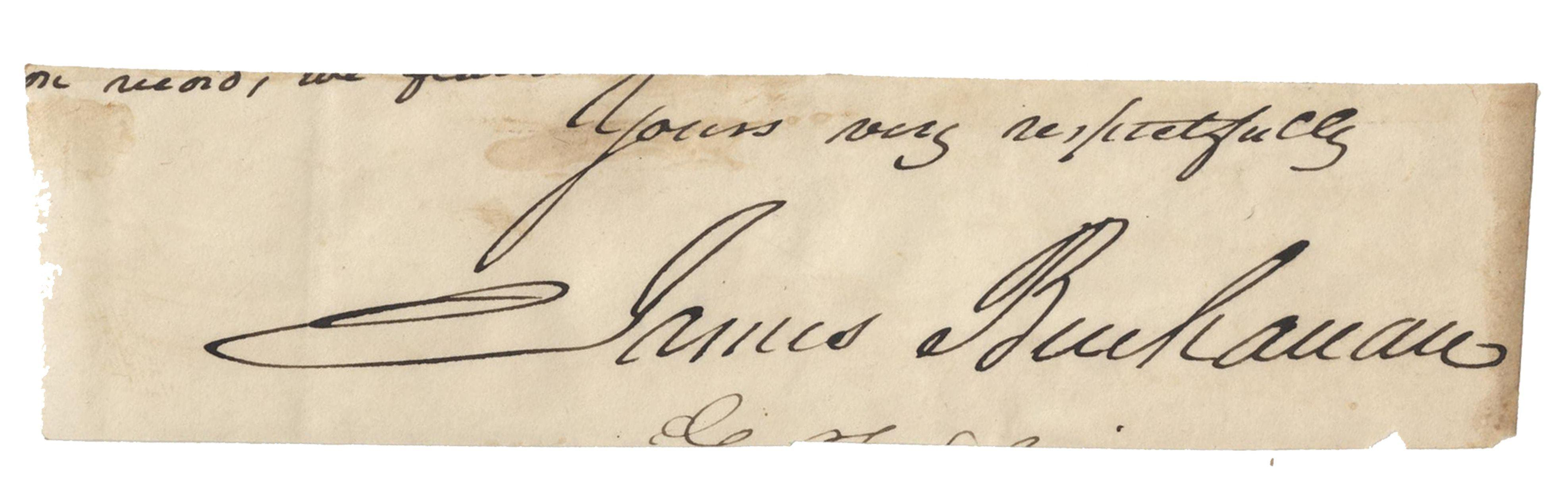 James Buchanan Lovely Signature
