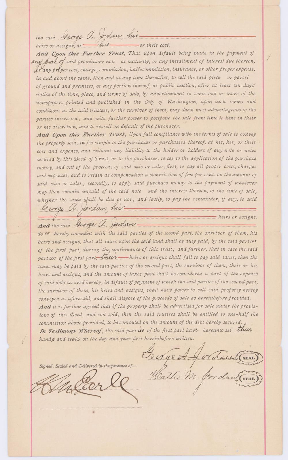 Blanche K. Bruce, Frederick Douglass Successor, Signed Washington, D.C. Land Deeds, 2 Pcs