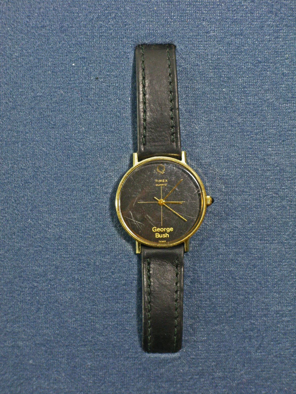 """Rare Presidential ALS with """"George Bush"""" Timex Watch Presented by George H.W. Bush to an Incumbent Republican Congressman"""