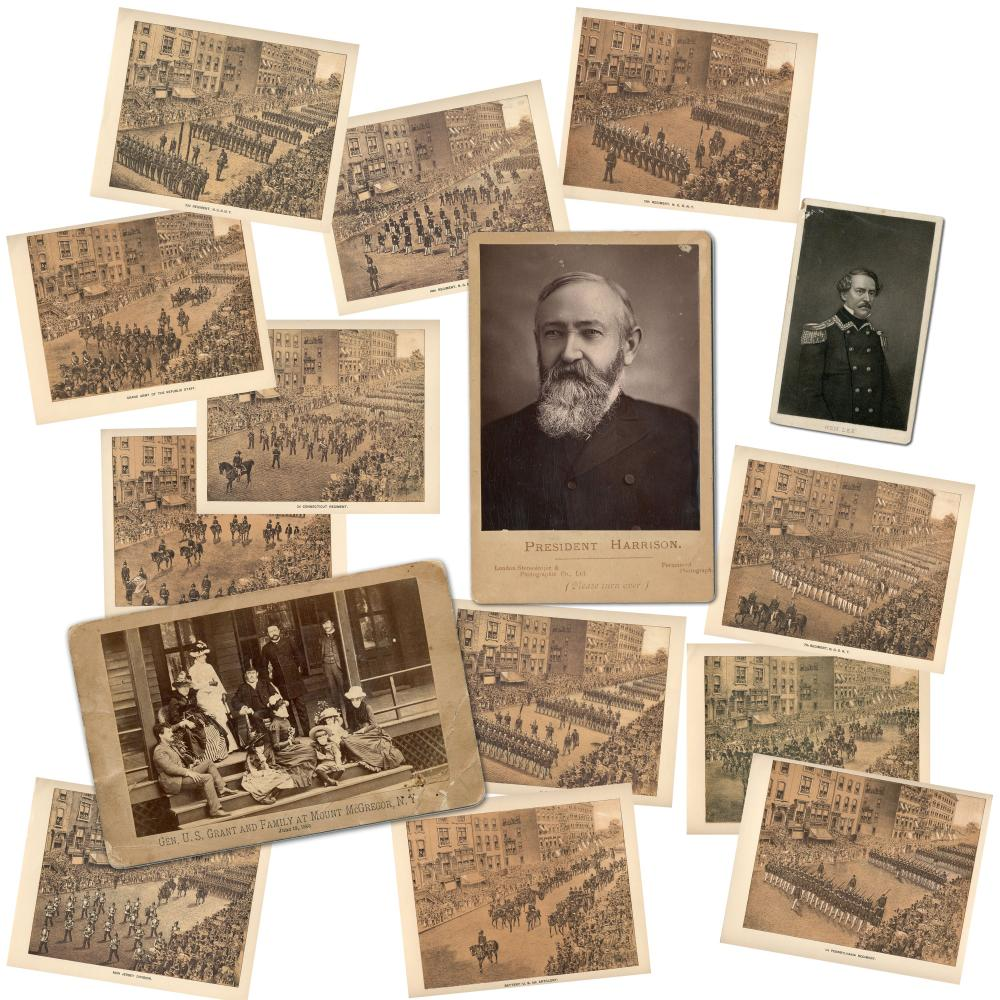 Civil War Archive Including U.S. Grant Cabinet Card from Mt. McGregor Taken About 1 Month Before His Death