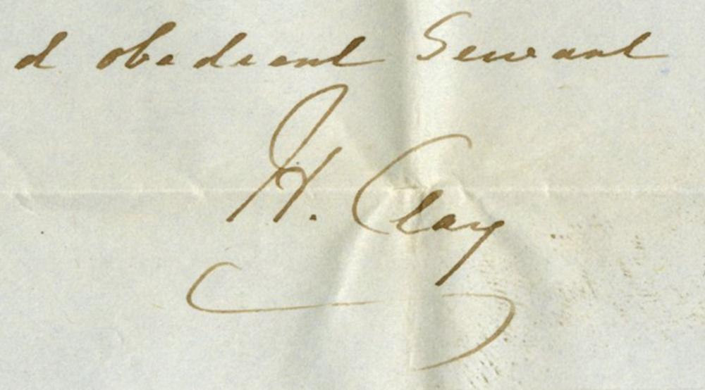 """Henry Clay ALS Begruding Appointments of """"original friends of Genl Taylor"""""""
